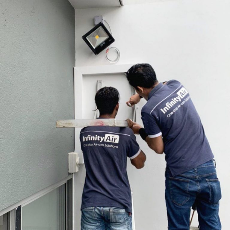 Installation Of Aircon Goes On