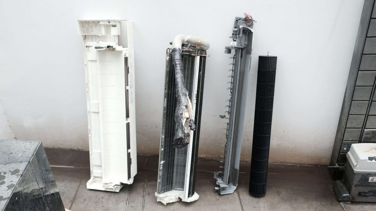 Dismantled Air-conditioner for Chemical Wash