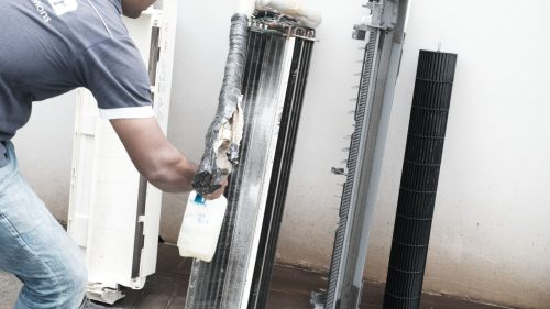 Aircon chemical overhaul servicing