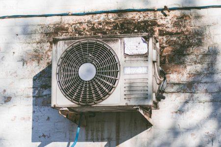 Aircon condenser outdoor